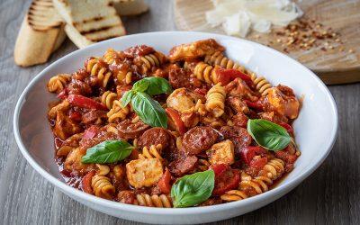 Chicken & Chorizo Arabiata Pasta