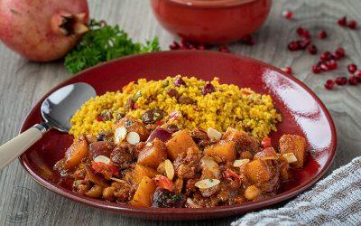 Squash, Cranberry & Red Onion Tagine