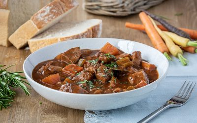 Beef Stew with Red Wine & Root Vegetables