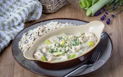 Chicken & Leek in Creamy Tarragon Sauce
