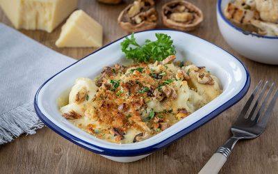 Croxton Manor Cheese & Cauliflower Bake With Walnut Crumb