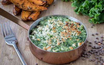 Spinach & Lentil Pie With Kale Mash