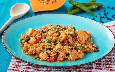 Black Bean & Okra Vegetable Jambalaya